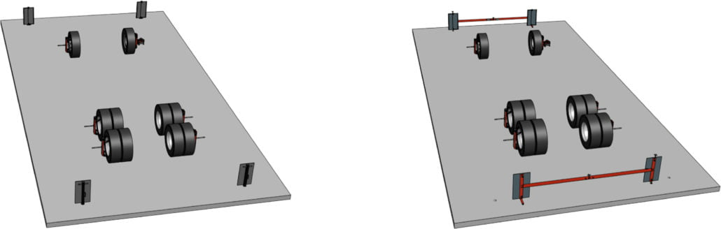 i-track can be mounted on the walls or the floor of the workplace